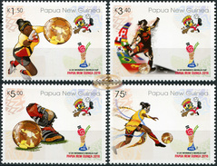 Papua New Guinea. 2016. FIFA U20 Women's Football World Cup Papua New Guinea 2016 (MNH OG **) Set Of 4 Stamps - Papouasie-Nouvelle-Guinée