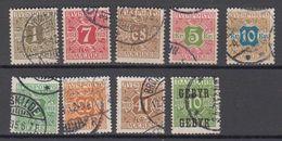 Dänemark Denmark Avis 9 Stamps Ex Mi# 1-14 Used - Fiscali