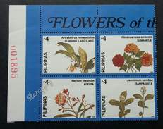 Philippines Flowers 1998 Flora Plant Flower (stamp With Plate Number) MNH - Filipinas