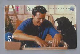 Telefoonkaart.-  Télécartes. Telecard. Phone Card. Deutsche Telecom. Deutsche Post. 5 €. Hond. Gebruikt. 2 SCANS - Andere