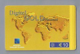 Telefoonkaart.- Télécartes. Telecard. Phone Card. Digitel GOLD Phonecard. Gnanam Telecom Centers. € 10. Gebruikt. - Andere
