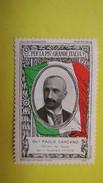 Vignette Italie  Marche Nationaliste Per La Piv Grande Italia Paolo Carcano Ministro Del Tesero - Erinnophilie