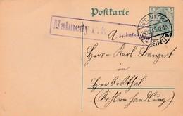 """Duitse 5 Pf Entier ST VITH 1915 Met Censuur """"Malmédy P.K. Zu Beförderen"""". - Weltkrieg 1914-18"""