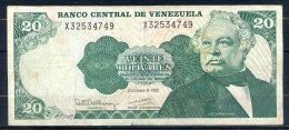 506-Venezuela Billet De 20 Bolivares 1992 X325 - Venezuela