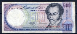 506-Venezuela Billet De 500 Bolivares 1981 A290 - Venezuela