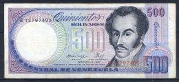 492-Venezuela Billet De 500 Bolivares 1987 B127 - Venezuela