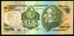 25-Uruguay Billet De 100 Nuevos Pesos 1987 G208 Neuf - Uruguay