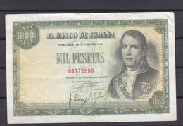ESPAGNE BILLET DE 1000 PESETAS PLI VERTICAL - [ 3] 1936-1975 : Regency Of Franco
