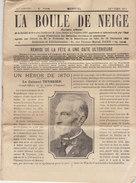 """""""La Boule De Neige"""" Bulletin De La Société Des Retraites, 1913, Article Sur Le Colonel Teyssier, Héros De 1870 - Documentos Históricos"""