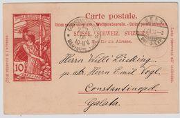 1900, UPU In Die Türkei!   , #8598 - 1882-1906 Armoiries, Helvetia Debout & UPU
