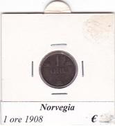NORVEGIA   1 ORE   ANNO 1908  COME DA FOTO - Norvegia