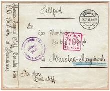 WARSZAWA - VARSOVIE - Poste Locale Franchise Militaire Skierniewice 16 Juillet 1918 Fischer 13a + Cachet Militaire - ....-1919 Gouvernement Provisoire