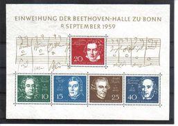 NDR641  BRD  1959  MICHL BLOCK 2 BEETHOVENBLOCK   ** Postfrisch SIEHE ABBILDUNG - BRD