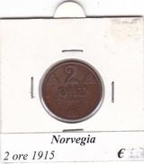 NORVEGIA   2 ORE   ANNO 1915  COME DA FOTO - Norvegia