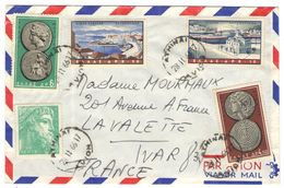 GRECIA - GREECE - GRECE - GRIECHENLAND - 1966 - Air Mail - 5 Stamps - Viaggiata Da Athinai Per La Valette-du-Var, France - Greece
