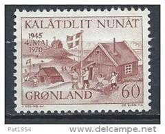 Groënland 1970 N°64 Neuf 25 Ans De La Libération Du Danemark - Greenland