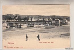 FIRENZE-Ponte Di Ferro Sull'Arno-- Originale100%_ Scan- - Firenze