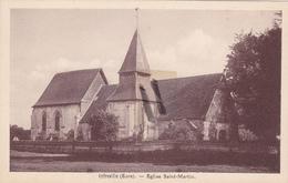 27 - Carte Postale Ancienne De  INFREVILLE  Eglise Saint Martin - Other Municipalities