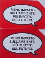 USATE- 2609/2614-TELECOM ITALIA- 2 SCHEDE MENO IMPATTO SULL'AMBIENTE- - Public Practical Advertising