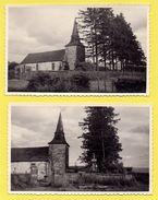 Lot De 2 Cartes-photos. Eglise Et Cimetière à Situer. - A Identifier