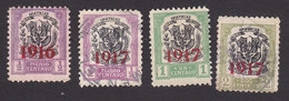 Dominican Republic, Scott #209, 213-215, Used, Arms Overprinted, Issued 1916-17 - Dominican Republic