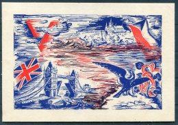 1943 GB Czechoslovak Forces In Exile, Fieldpost SOKOL Exhibition London / Prague Patriotic Postcard - 1902-1951 (Kings)