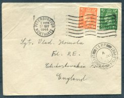 1944 GB Czechoslovak Forces In Exile, Fieldpost Czech Army & Airforce Cover. Peterborough C.S.P.P. - 1902-1951 (Kings)