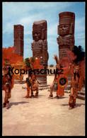 ÄLTERE POSTKARTE RUINAS DE TULA HGO. MÉXICO Y DANZANTES MEXIKO INDIANER Indians Indien Ansichtskarte Postcard - Indianer