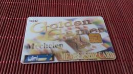 Casino Card Belgium Golden Games   Rare - Cartes De Casino