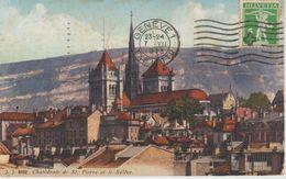 (CH654) GENEVE. CATHEDRALE DE SAINT PIERRE ET LE SALEVE - GE Genève