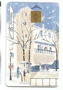 Telecarte Illustrée Hiver - Il Y A Toujours Une Cabine ... Neige - Seasons