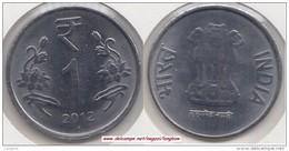 India 1 Rupee 2012 Km#394 - Used - India