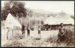 South Africa / Transvaal RP SAPSCO Postcard Native Children / Village - South Africa
