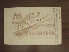 Arezzo  G. Pertempi  Specialista Per Bambini  Ingrandimenti  -  Antica Foto Con Dedica : 2 Settembre 1907 - Arezzo