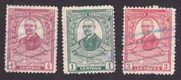 Dominican Republic, Scott #249-251, Used, Horacio Vasquez, Issued 1929 - Dominicaine (République)