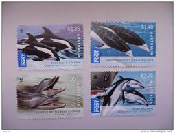 WWF Australia Australie Australien 2009 Dolphins Dolphin Delphin Dauphin 2009 4v Mnh - Unused Stamps
