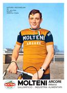 CARTE CYCLISME ARTURO PECCHIELAN TEAM MOLTENI 1970 - Cycling