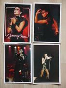 JEANNE MAS CHANTEUSE  LOT 4 CARTES - Artistes