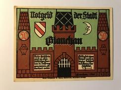 Allemagne Notgeld Glauchau 50 Pfennig - [ 3] 1918-1933 : République De Weimar