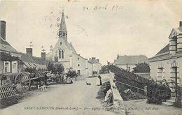 SAINT GENOUPH-église Et Route De Tours - Autres Communes