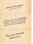 Il Y A Du Travail Pour Tous    Publicite Pour Travail En Allemagne - 1939-45