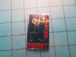 Sp08 Pin's Pins : Rare Et Belle Qualité !  BRETAGNE PONTIVY HALTEROPHILIE CHM CLUB   ; Marquage Au Dos : -  ---  - - Weightlifting