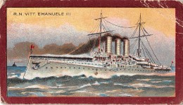 "06957  ""R. N. VITTORIO EMANUELE III / TALMONE - TORINO"" CROMOLITHOGRAFIA ORIGINALE - Chocolat"