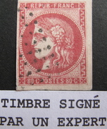 LOT R542/214 - CERES EMISSION DE BORDEAUX N°49 ☛ Signé CALVES (expert) - Cote : 320,00 € - 1870 Bordeaux Printing