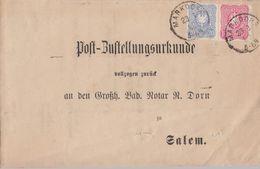 DR Post-Zustellungsurkunde Mif Minr.41a,42b Markdorf 23.8.82 Geprüft - Deutschland