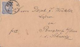 DR Brief EF Minr.34 Nachv Stempel K1 Jena 13.1. Gel. In Schweiz - Briefe U. Dokumente