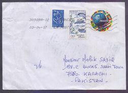 Football, Ships, Round Shape Odd Stamp On Postal History Cover From FRANCE, Use 2017 - Frankrijk