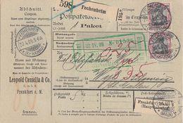 DR Paketkarte Mef Minr.2x 90I Fechenheim 20.4.09 Gel. In Schweiz - Briefe U. Dokumente