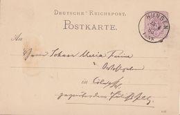 DR Ganzsache K1 Hungen 23.4.83 - Briefe U. Dokumente