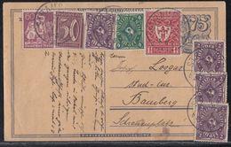 DR Ganzsache Zfr. Minr.165,183,193,199,4x 224 Straubing - Deutschland